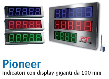 Indicatori con display giganti da 100mm