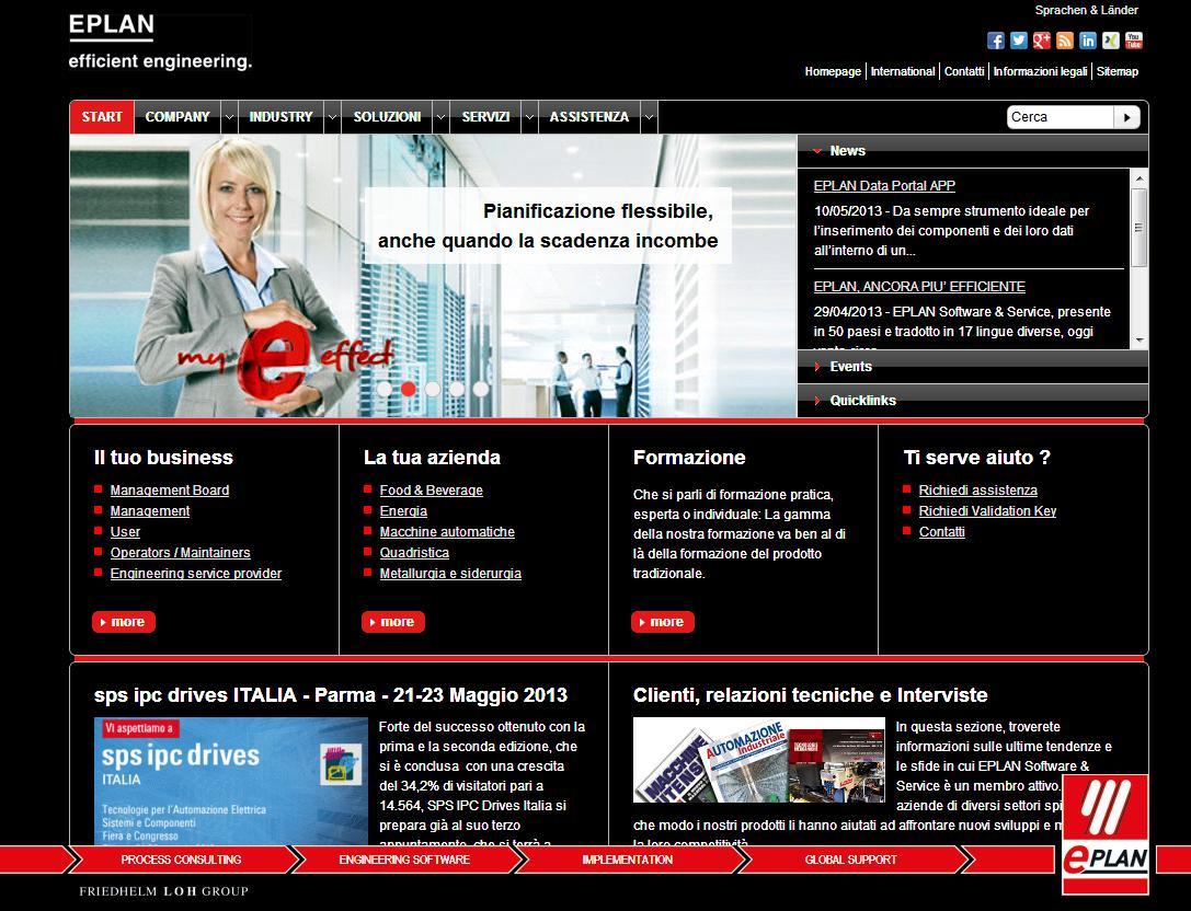 È online il nuovo sito web Eplan