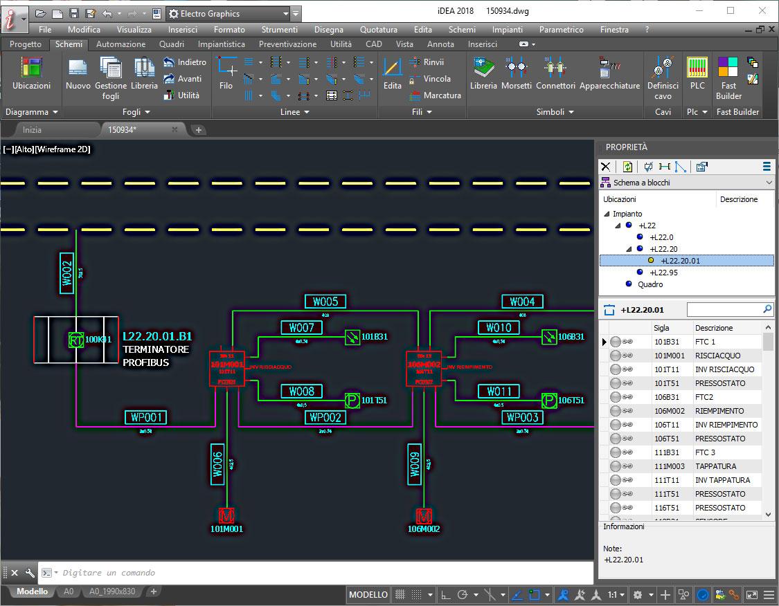 Simbologia Schemi Elettrici Industriali : Cad elettrico per processi industriali